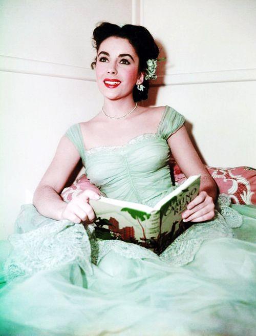 Liz Taylor Reading Books