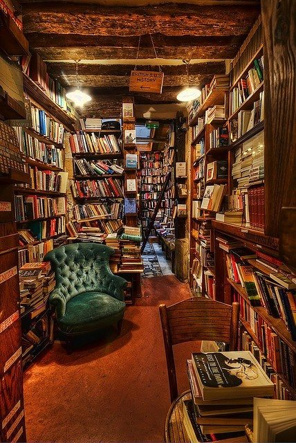Cozy private library rare books