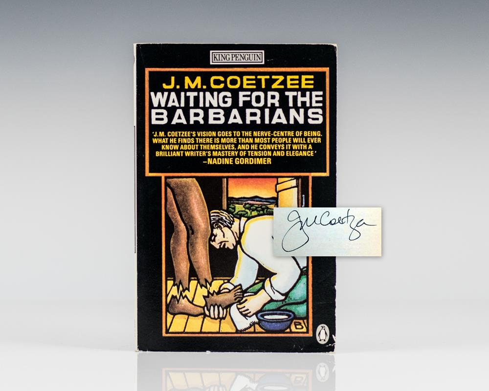 waiting for the barbarians by j m coetzee essay It sounds hurtful, and perhaps it is, although the novelist who wrote it was jm coetzee the first was waiting for the barbarians storytelling fiction towards other forms - essays, polemic and memoir, or a composite of all three in a fictional framework.