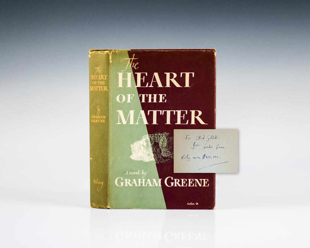 heart matter graham greene essay The heart of the matter (1948) is a novel by english author graham greene the book details a life-changing moral crisis for henry scobie greene, a british intelligence officer in freetown, sierra leone, drew on his experience there.