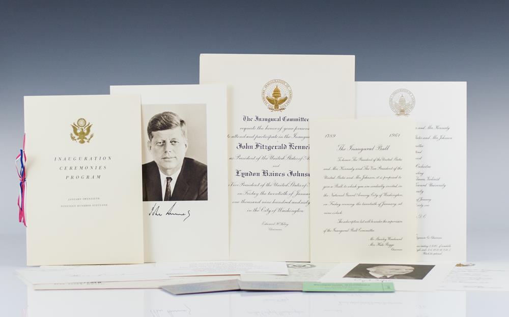 John F. Kennedy and Lyndon B. Johnson Inauguration Package.