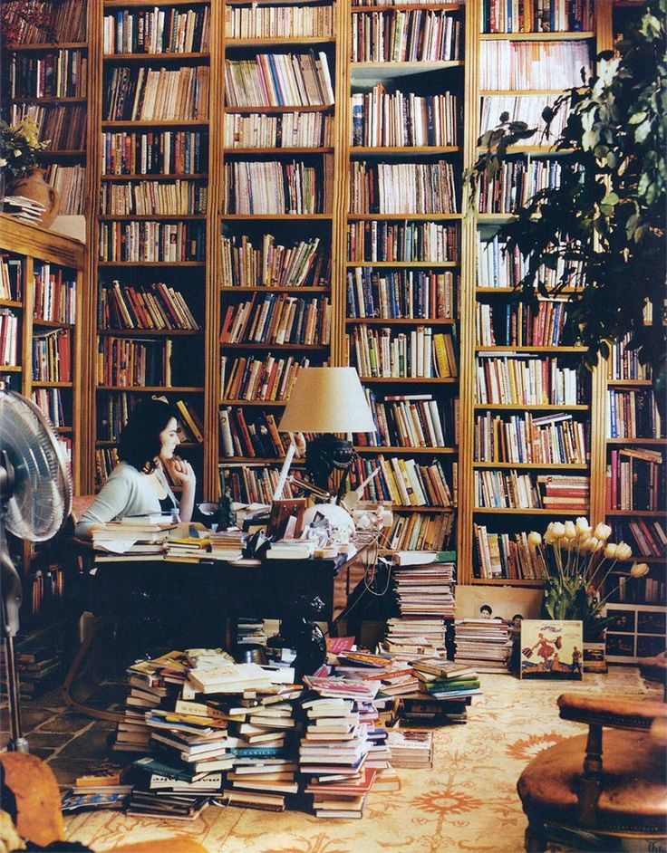 messy private library