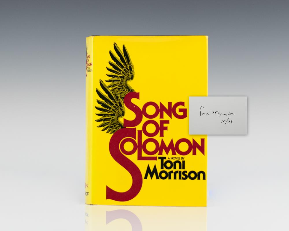 First Edition of Song of Solomon; signed by Toni Morrison