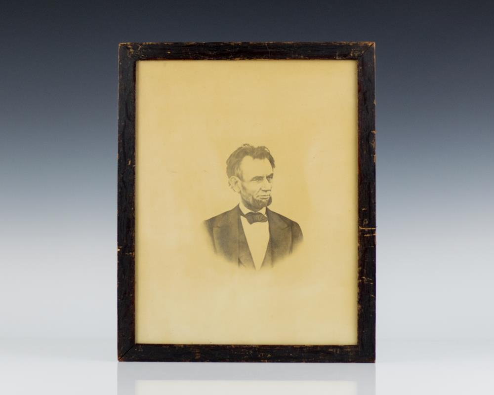 Photograph of Abraham Lincoln.