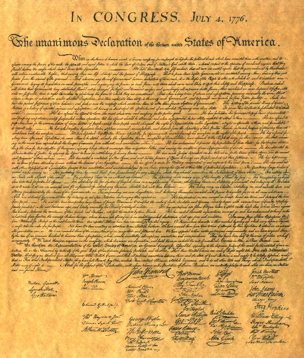 The Rare Declaration of Independence