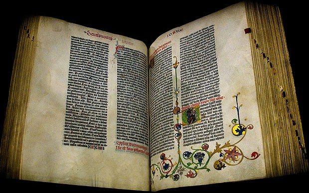 Rare Gutenberg Bible