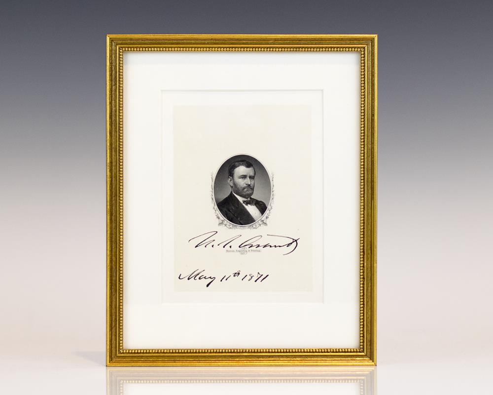 ulysses s grant signed engraving general grant signed ulysses s grant signed engraving