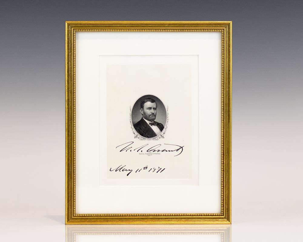 ulysses s grant signed engraving general grant signed ulysses s grant signed engraving