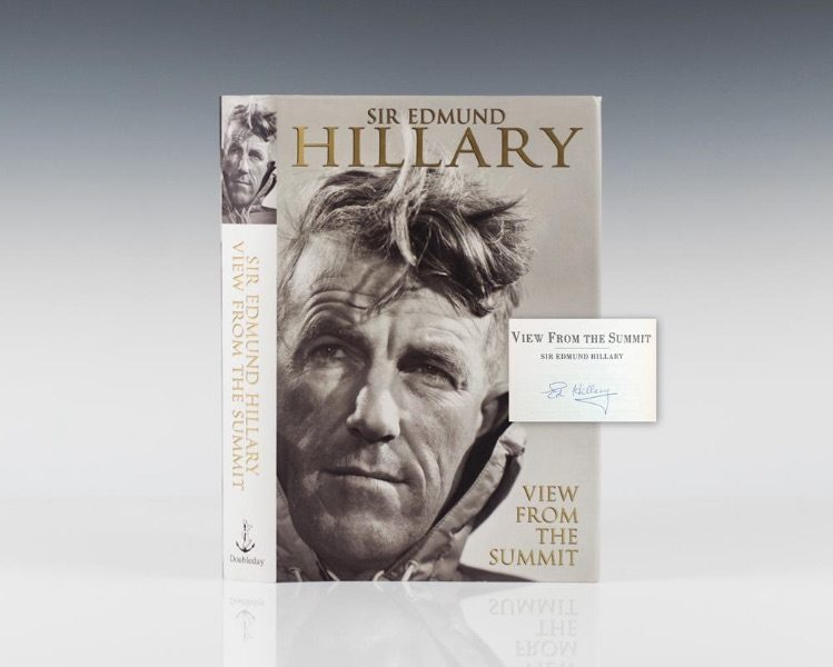First edition of View from the Summit by Sir Edmund Hillary
