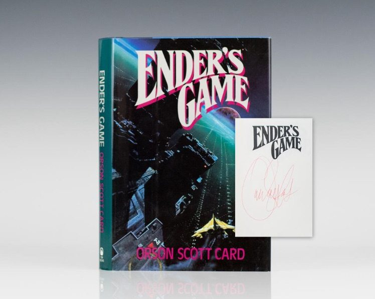 First edition of Ender's Game by Orson Scott Card