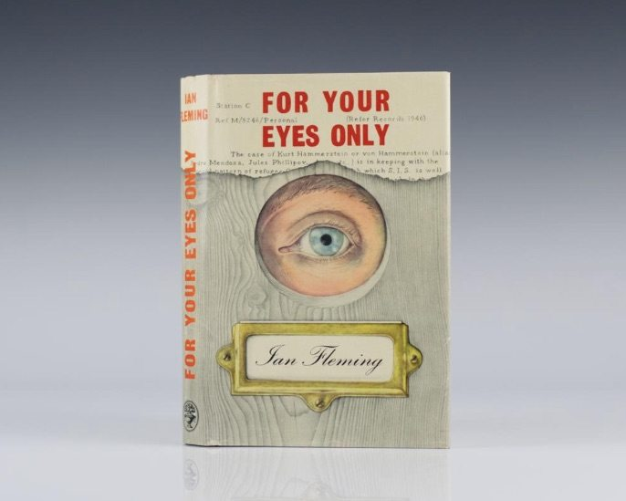 First Edition of For Your Eyes Only by Ian Fleming