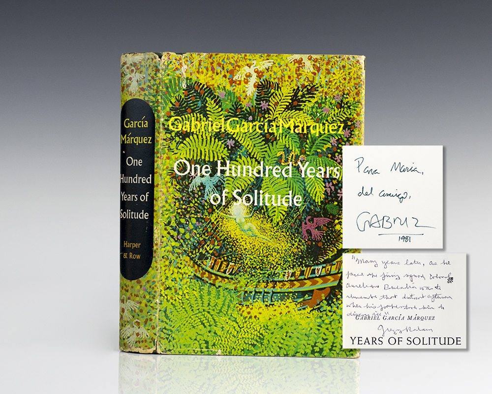 one hundred years of solitude gabriel garcia marquez first edition one hundred years of solitude