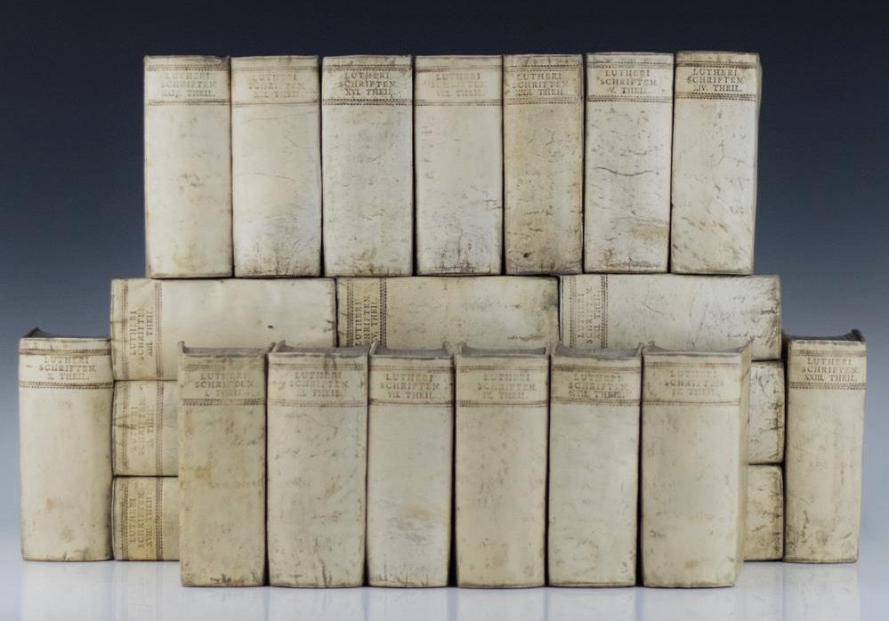 The Works of Martin Luther rare first edition in full vellum