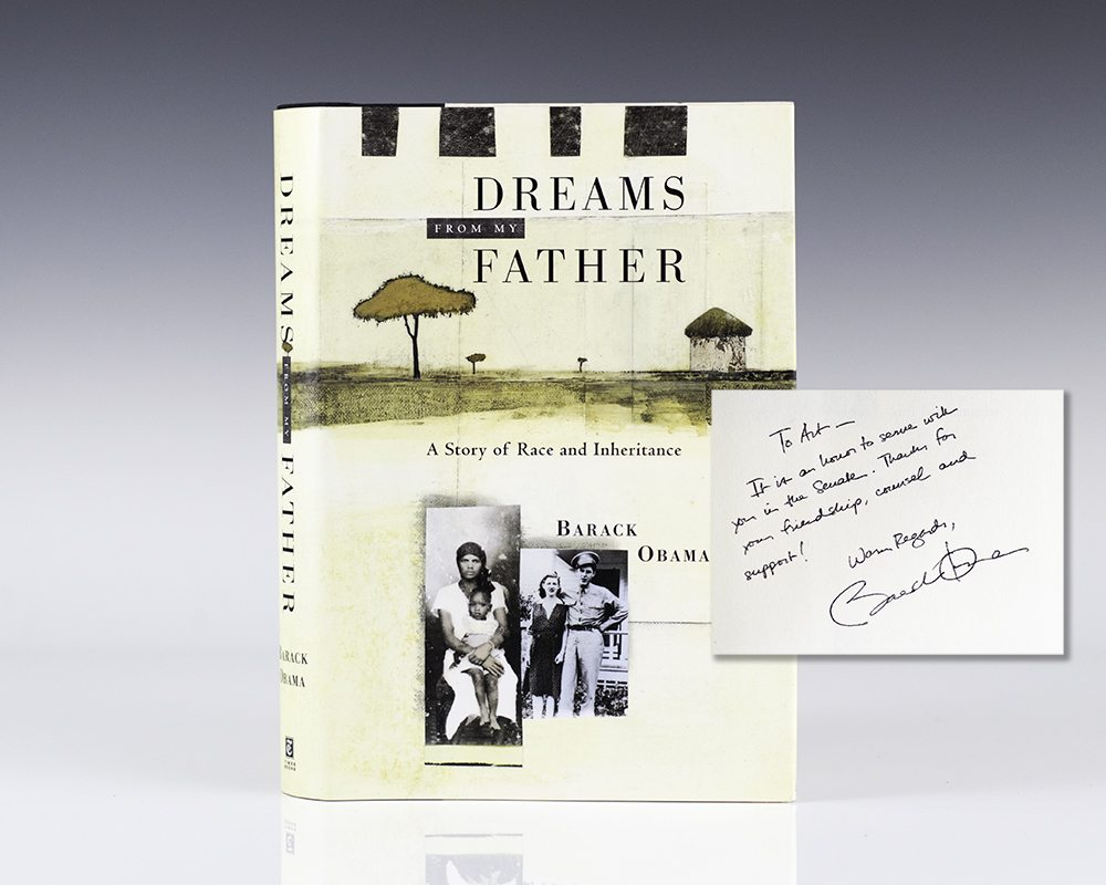 First edition of Dreams From Father; inscribed by Barack Obama
