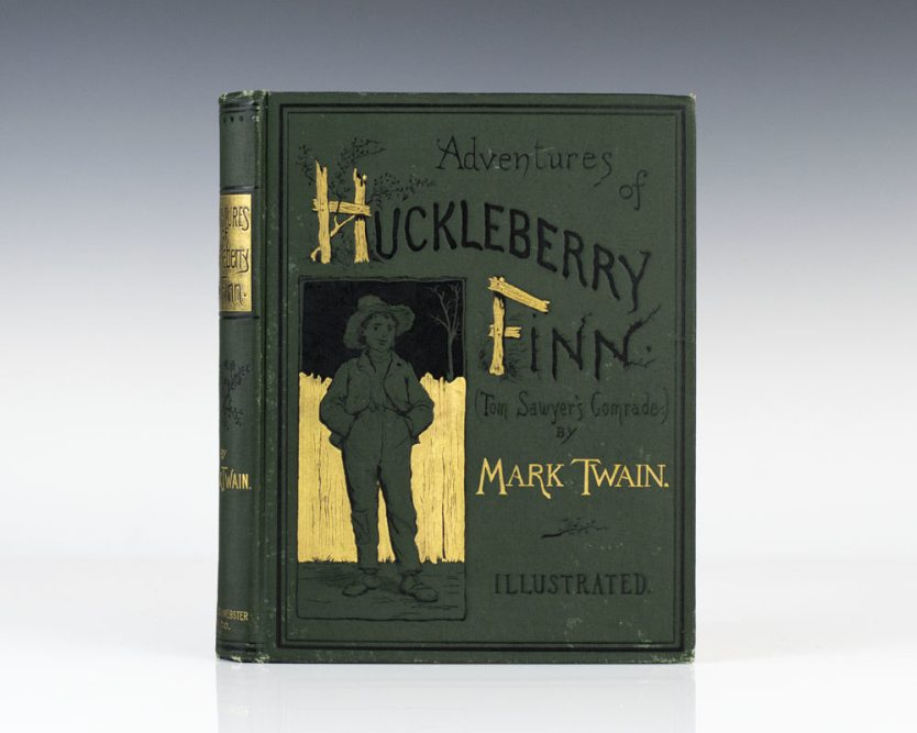 rare first edition of Adventures of Huckleberry Finn by Mark Twain