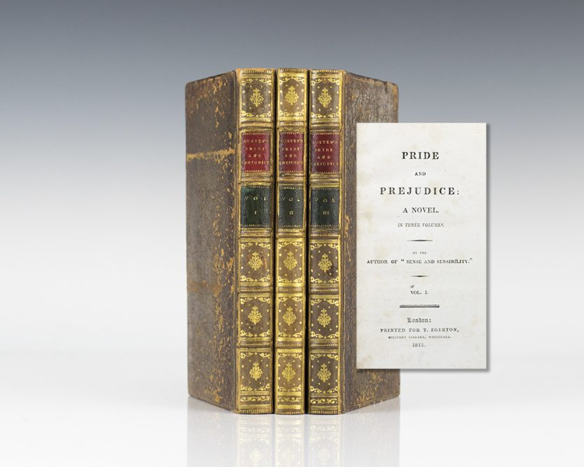 Pride and Prejudice in 3 Volumes by Jane Austen