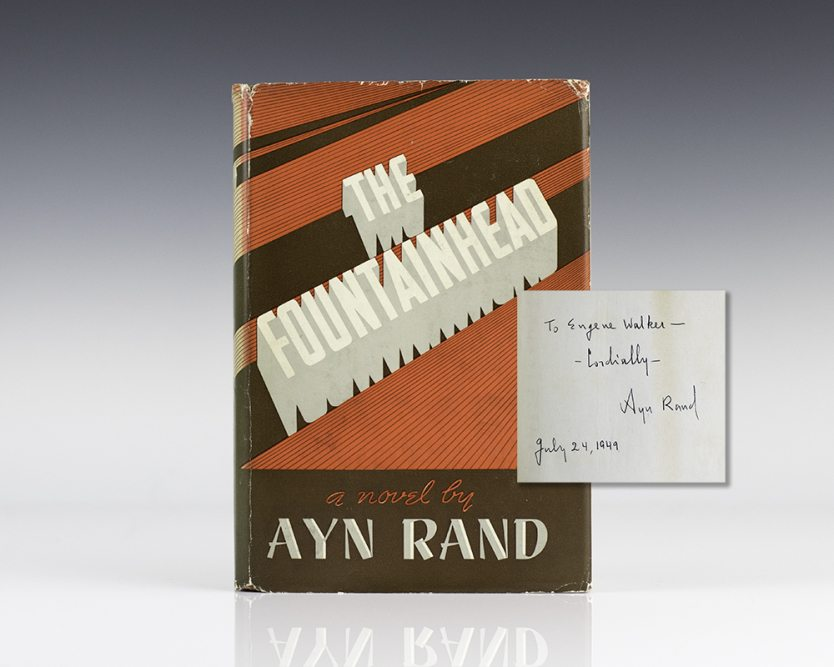 rare first edition of The Fountainhead by Ayn Rand
