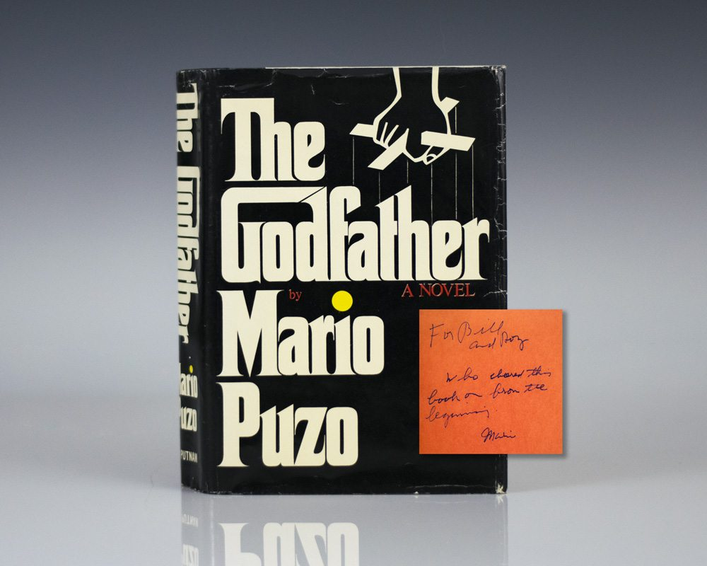 First edition of Mario Puzo's The Godfather; inscribed by Puzo to his editor, William Targ. By far the most desirable association copy.