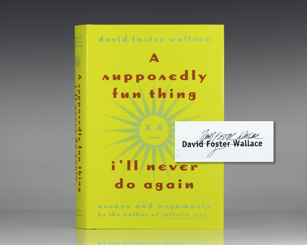 david foster wallace a supposedly fun thing essay Created date: 1/3/2008 12:44:05 pm.