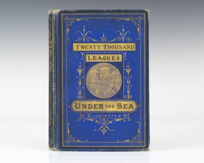 Rare first American edition in the blue cloth of Twenty Thousand Leagues Under the Sea