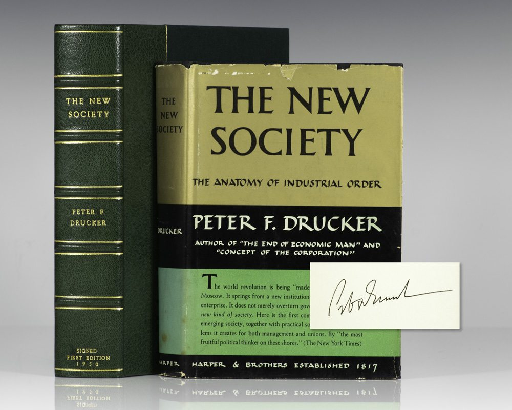 The New Society Peter Drucker First Edition Signed