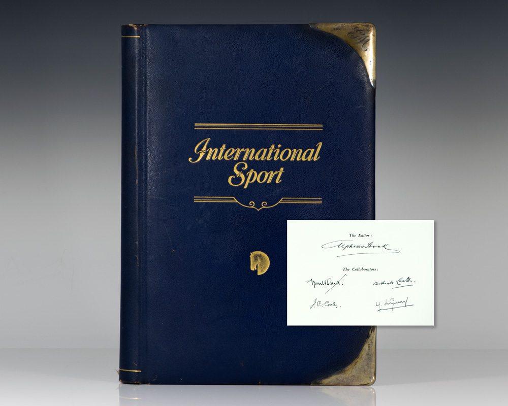 international sport polo first edition signed. Black Bedroom Furniture Sets. Home Design Ideas
