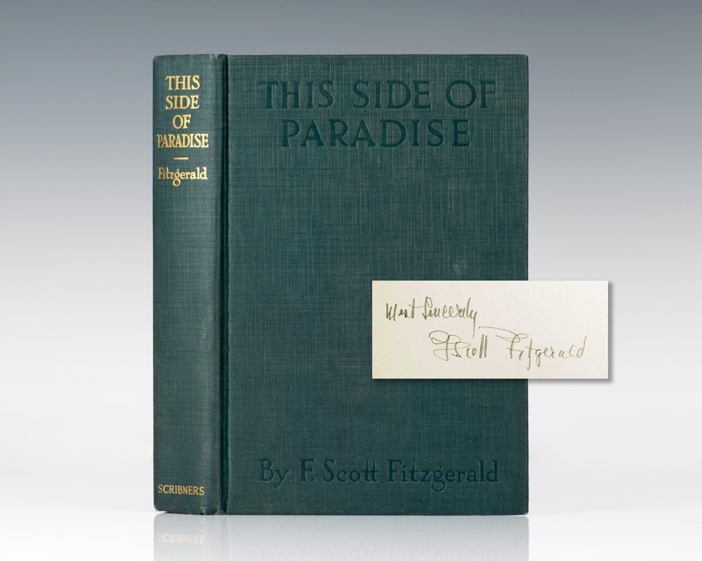 this side of paradise f scott fitgerald first edition signed this side of paradise