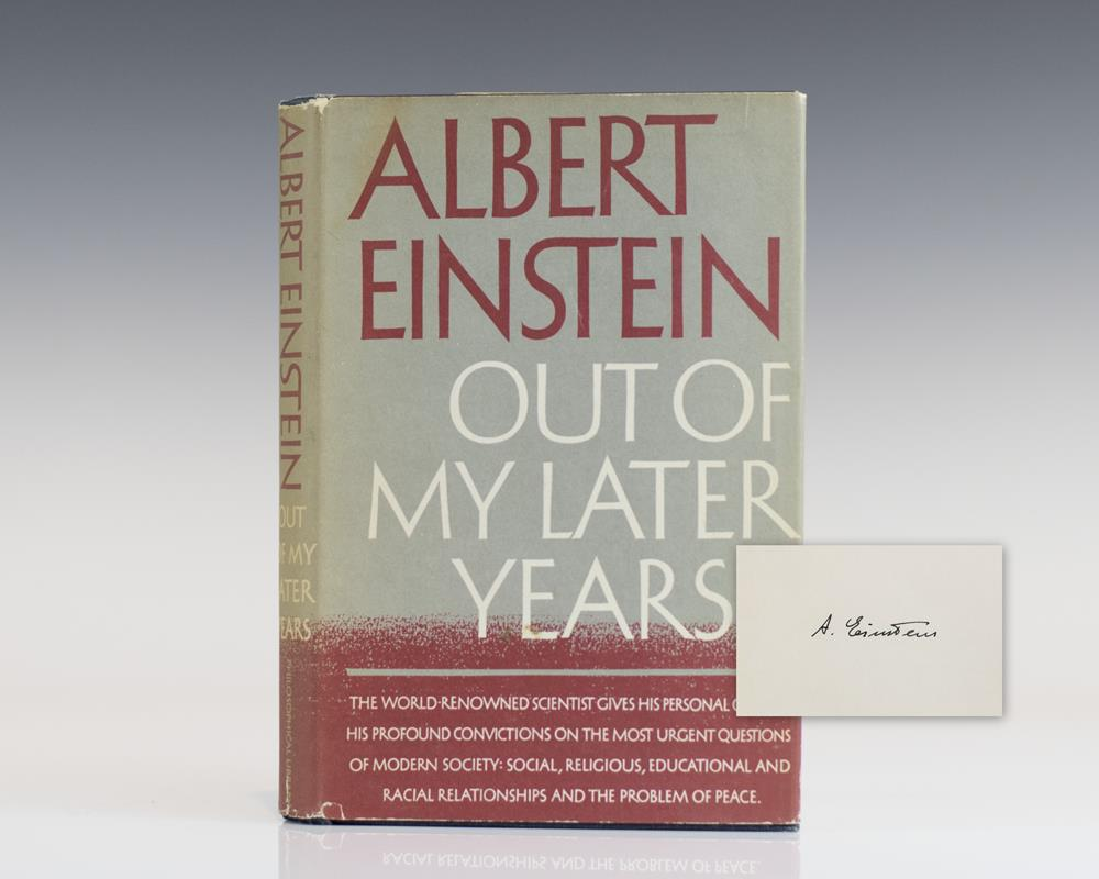 First Edition of Albert Einstein's Out of My Later Years; Signed by Him.