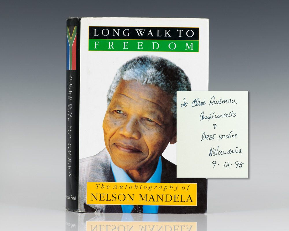 First South African edition of Nelson Mandela's best-selling autobiography Long Walk to Freedom; Inscribed by him