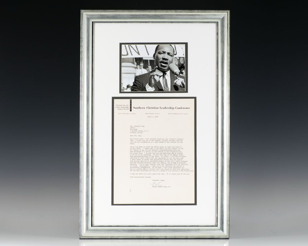 Martin Luther King Autographed Letter Signed