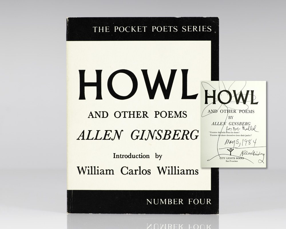 First Edition of Howl and Other Poems Inscribed by Allen Ginsberg
