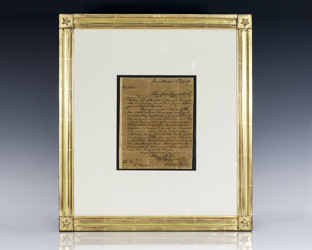 George Washington Autographed Letter