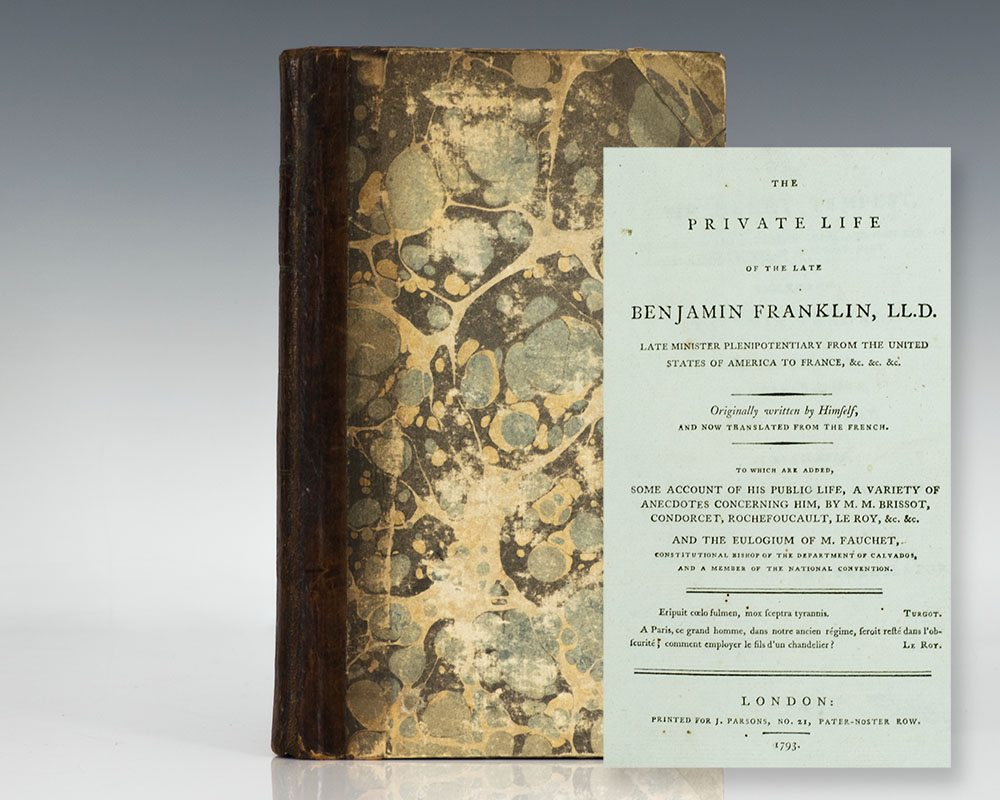 First Edition in English of The Private Life of the Late Benjamin Franklin