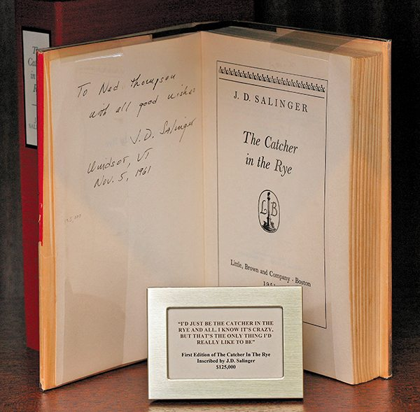 Inscribed First Edition The Catcher in The Rye