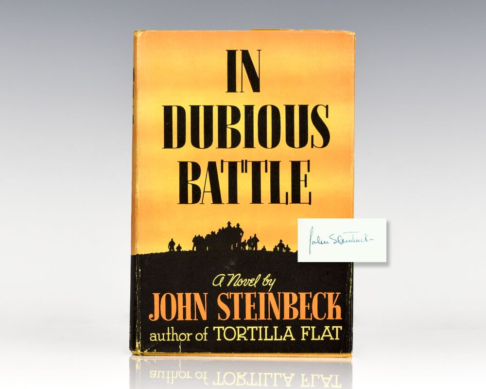 First Edition of Steinbeck's In Dubious Battle; Signed by Him