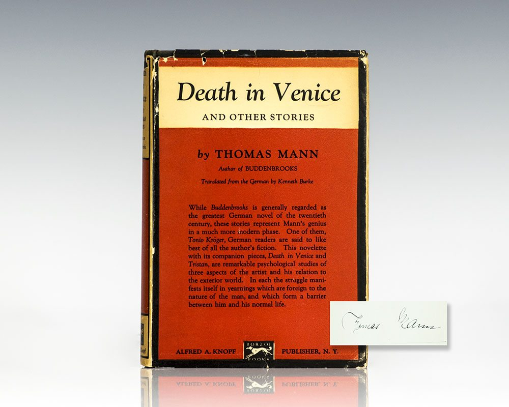 review of thomas manns death in venice I think the thing that disappoints me most about luchino visconti's death in venice is its lack of ambiguity visconti has chosen to abandon the subtleties of the thomas mann novel and present us with a straightforward story of homosexual love, and although that's his privilege, i think he has .