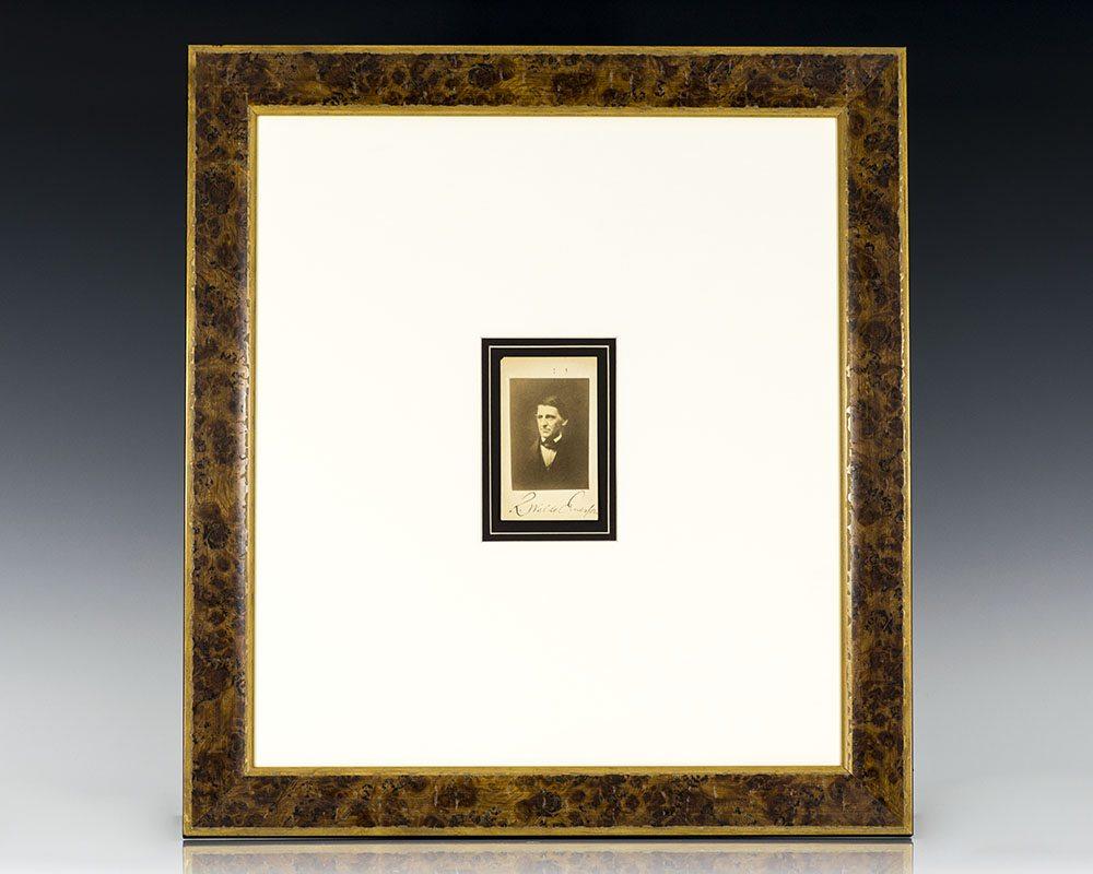 Ralph Waldo Emerson Signed Carte De Visite