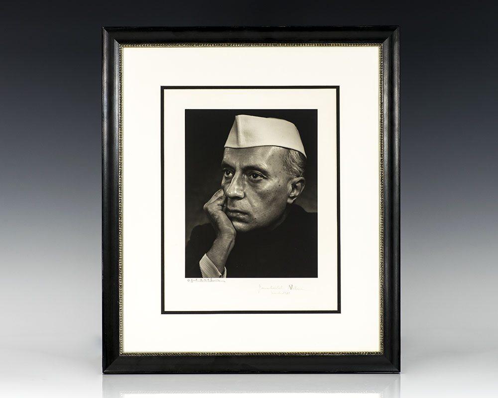 Jawaharlal Nehru and Yousuf Karsh Signed Photograph