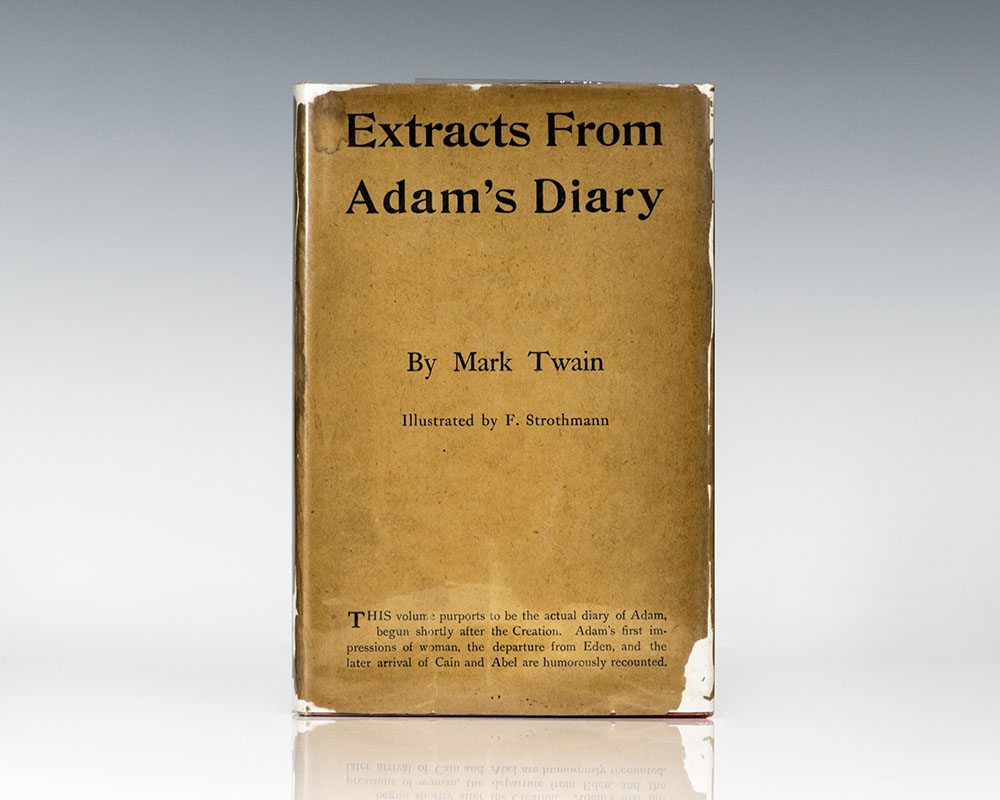 Extracts From Adams Diary Mark Twain First Edition