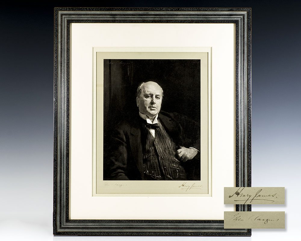 John Singer Sargent and Henry James signed Portrait