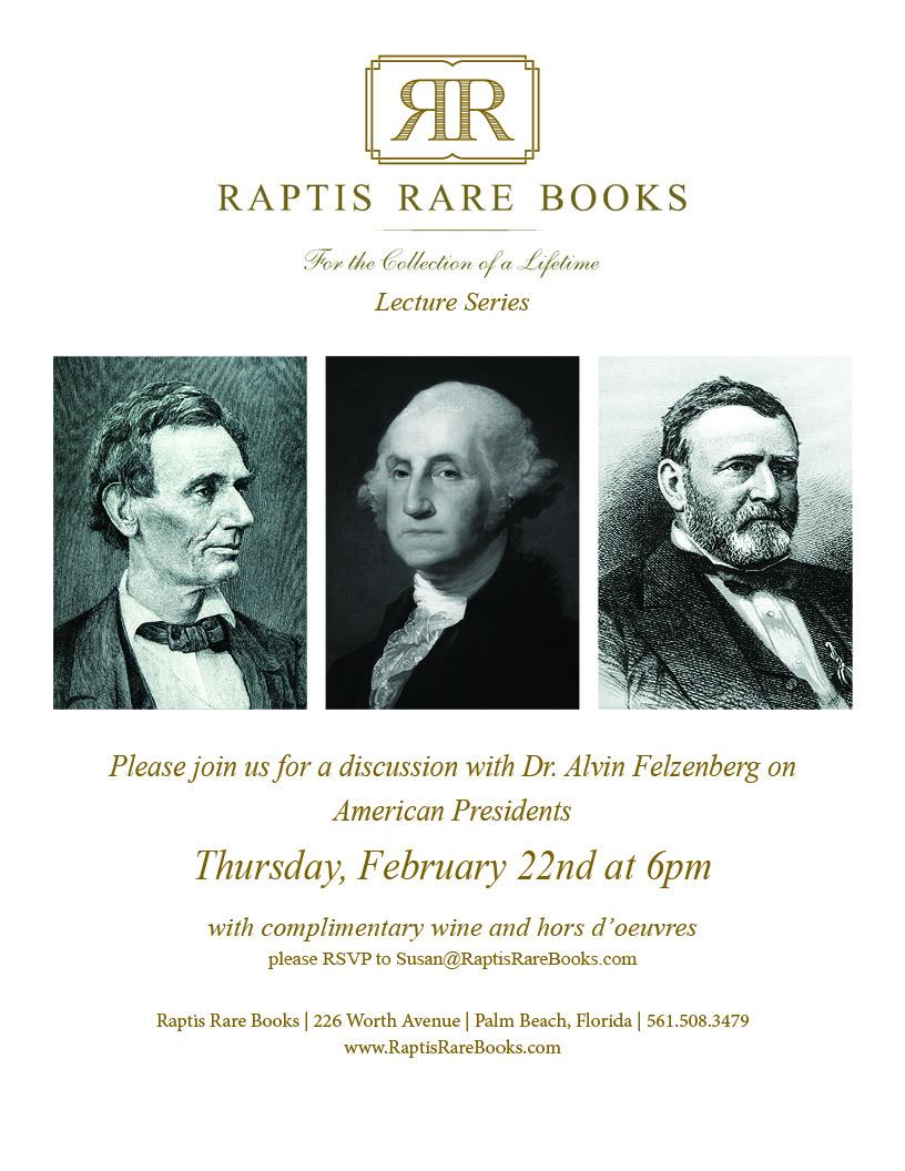 Raptis Rare Books Alvin Felzenberg Event