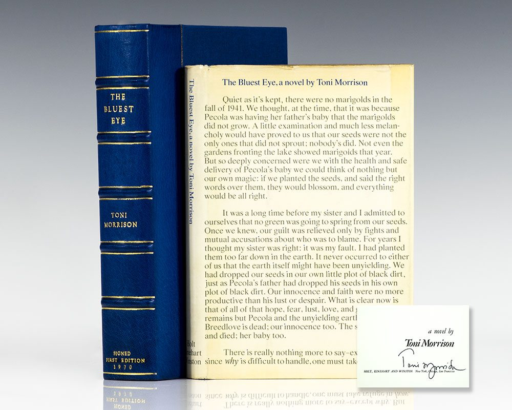 First edition of The Bluest Eye; signed by Toni Morrison