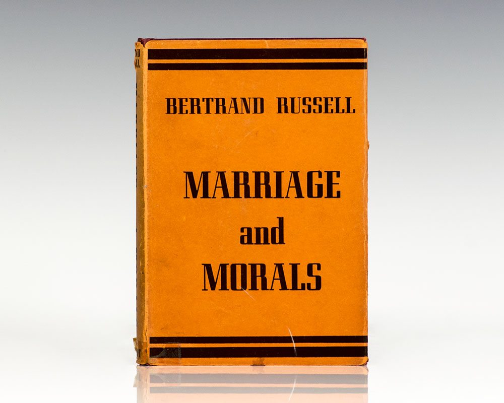 marriage and morals bertrand russell first edition signed horace