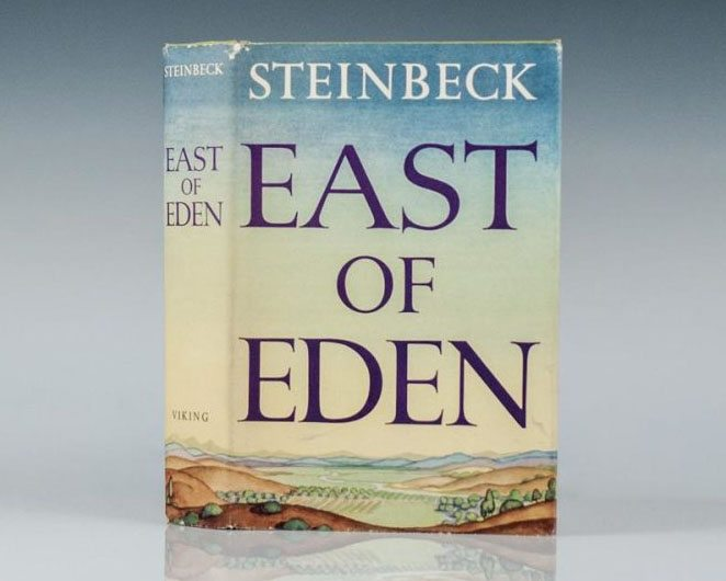 Rare First Edition of John Steinbeck's East of Eden in the Rare Original Dust Jacket