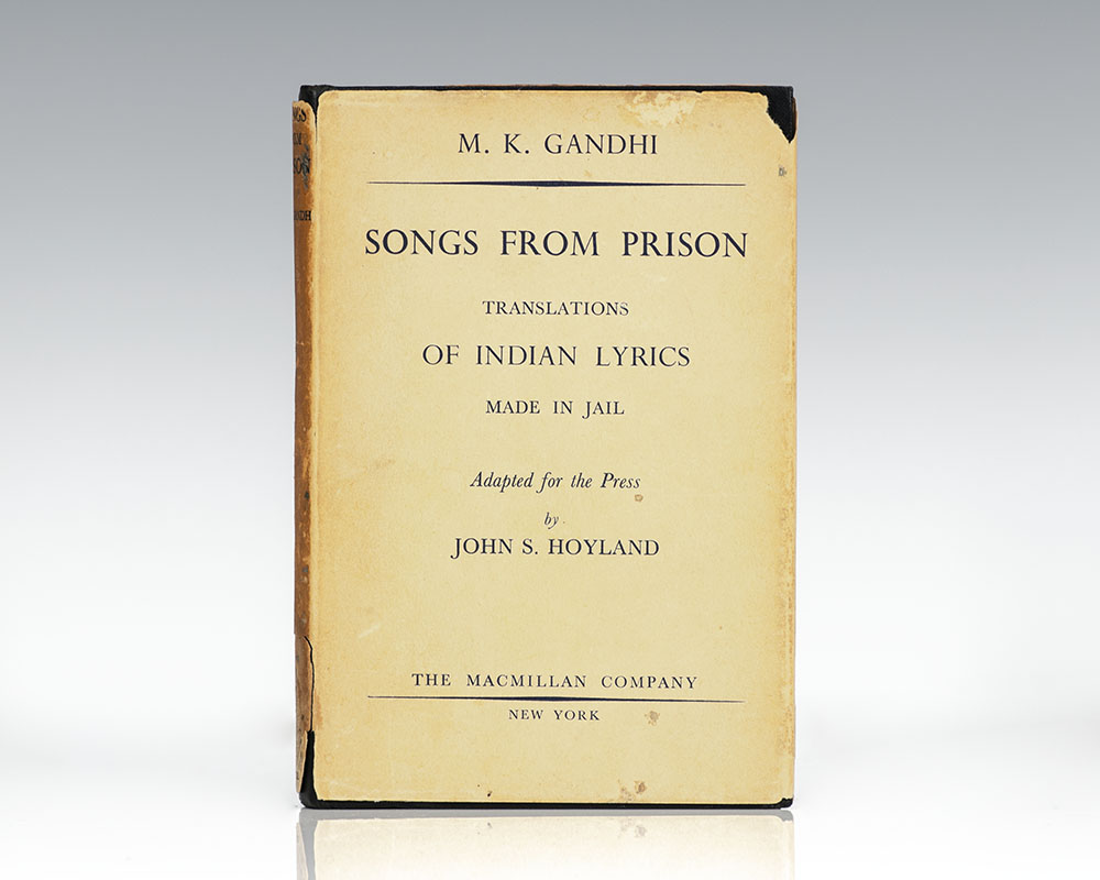 Firs American edition of Gandhi's Songs from Prisonn
