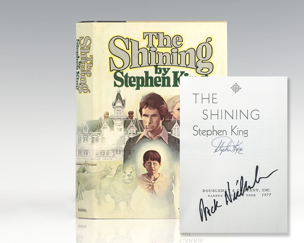 ef4e93ac0031 The Shining Stephen King First Edition Signed Jack Nicholson