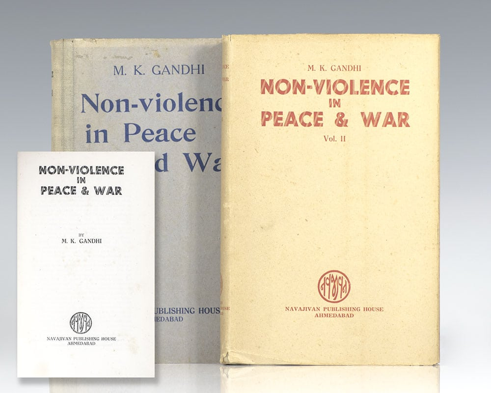 First edition of Gandhi's Non-Violence in Peace & War