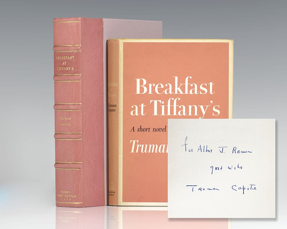 Risultati immagini per breakfast at tiffany's first edition