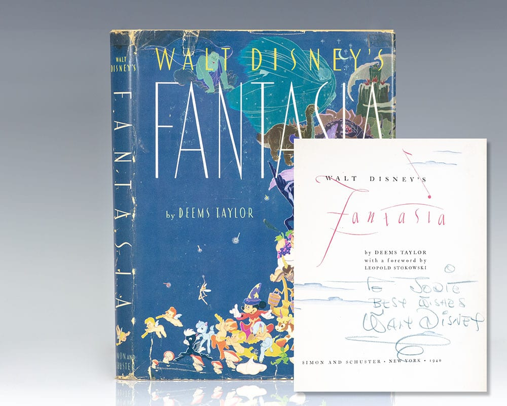 First edition of Walt Disney's Fantasia; inscribed by Walt Disney and thirteen Walt Disney Studios animators