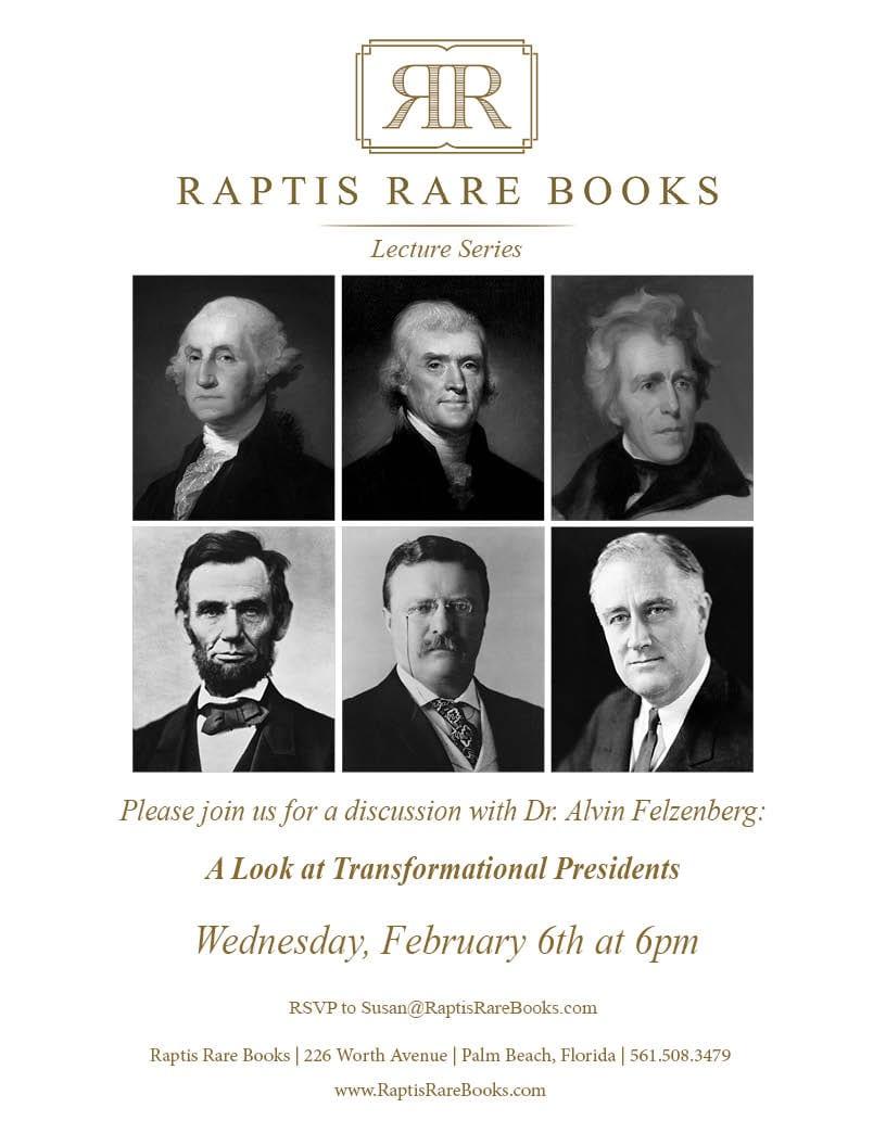 Raptis Rare Books Felzenberg event 2019